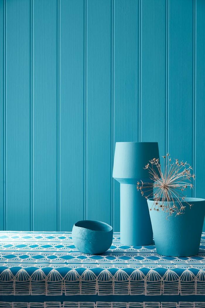 farbe türkis farbgestaltung einrichtungsbeispiele trendfarbe wandgestaltung wanddesign blaugrün blau