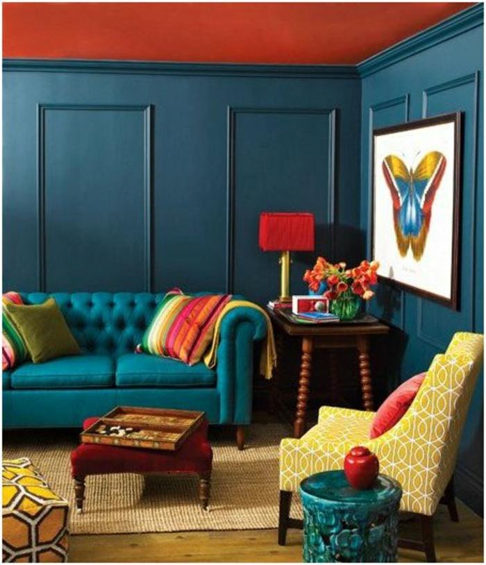 trendfarbe wandgestaltung wanddesign blaugrün magie