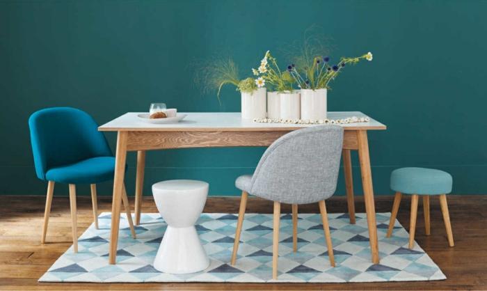 trendfarbe wandgestaltung wanddesign blaugrün modern