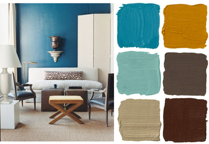 farbe türkis farbgestaltung einrichtungsbeispiele trendfarbe wandgestaltung wanddesign blaugrün 80s