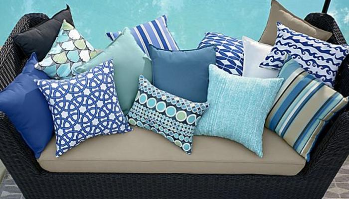 einrichtungsbeispiele wohndeko dekoideen accessoires wandgestaltung farbgestaltung blaue muster