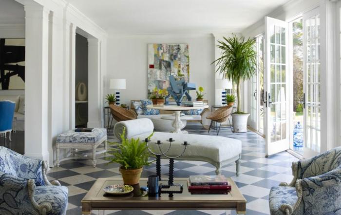 einrichtungsbeispiele wohnideen dekoideen accessoires wandgestaltung farbgestaltung blautöne