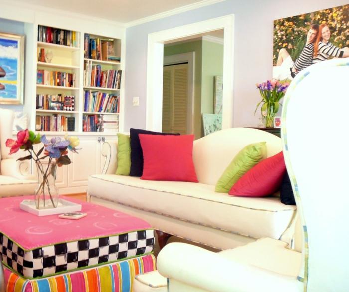 einrichtungsbeispiele wohnideen dekoideen accessoires wandgestaltung farbgestaltung bunt