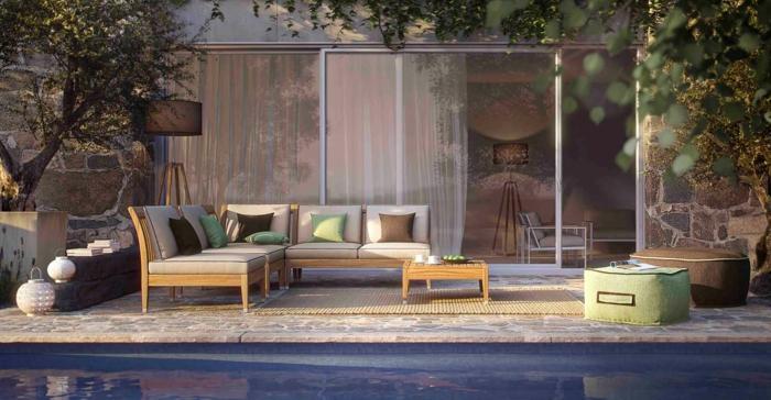 einrichtungsbeispiele wohnideen dekoideen accessoires wandgestaltung farbgestaltung gartenmöbel