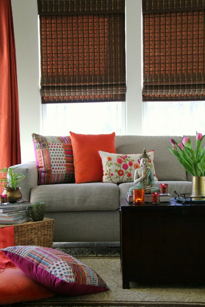 wohnideen dekoideen accessoires wandgestaltung farbgestaltung orange
