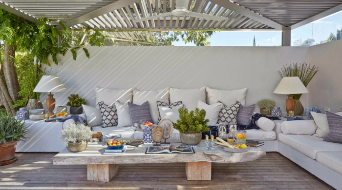 69 einrichtungsbeispiele und wohnideen mit sommerlichem flair. Black Bedroom Furniture Sets. Home Design Ideas