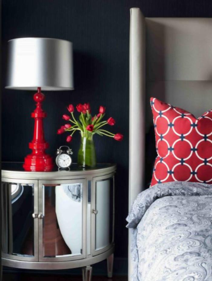 wohnideen dekoideen accessoires wandgestaltung farbgestaltung rot