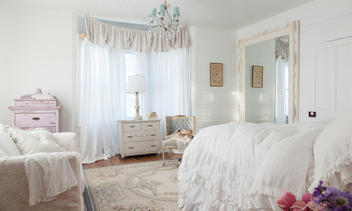 Einrichtungsideen Schlafzimmer Shabby Chic  visionwohnen.com