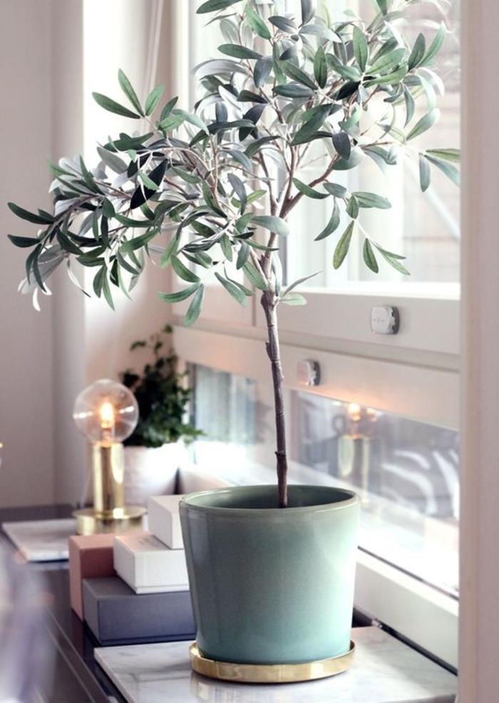 fensterbank dekoration topfpflanze coole leuchte stauraum