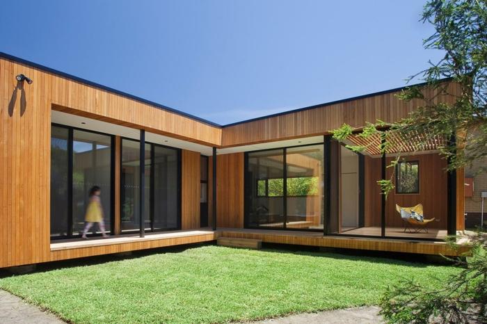 fertighaus moderne architektur klein hölzerne paneele