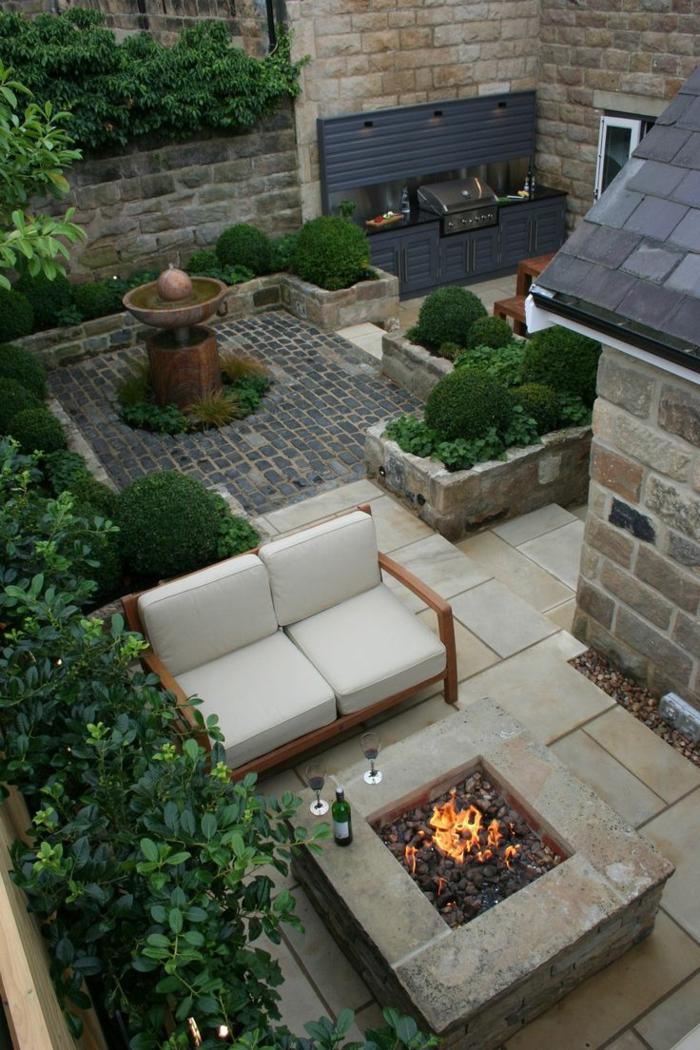 Moderne feuerstellen 22 beispiele dass feuerstellen den innen und au enbereich gem tlich machen - Gartenideen pflanzen ...
