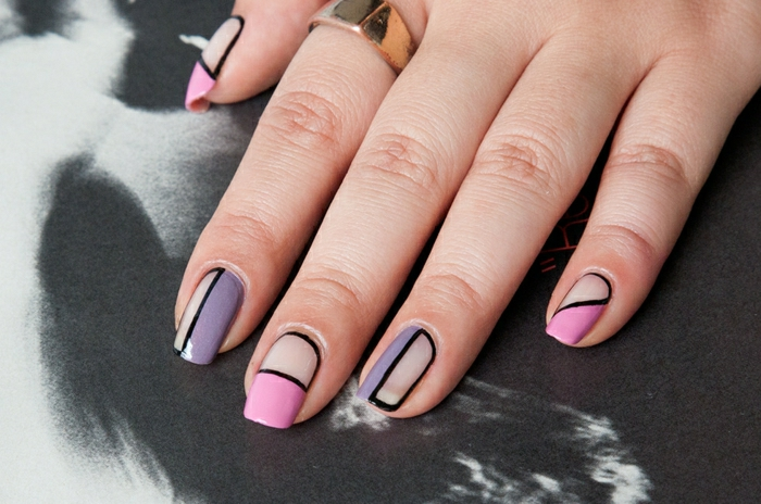 fingernagel muster aktuelle trends nageldesign ideen