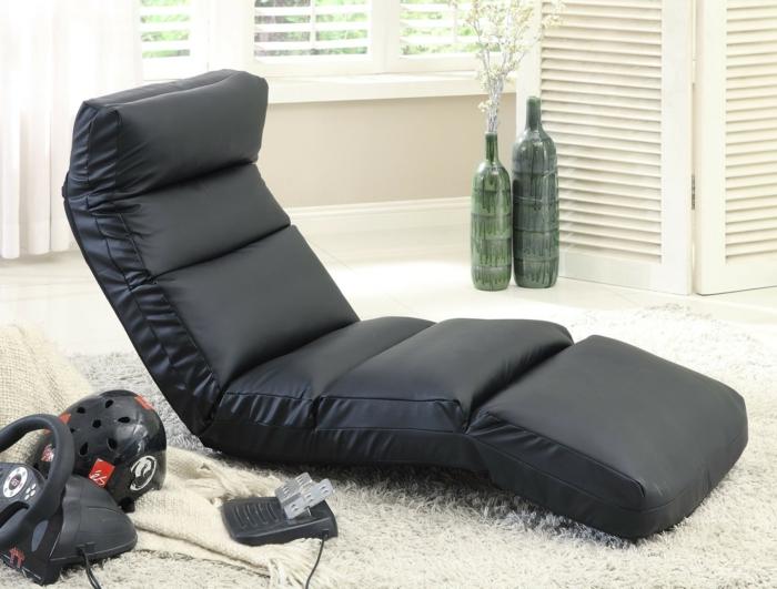 gaming sessel schwarzleder games hochflor teppich weiß computer spiele