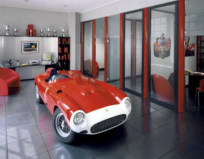 garagenboden Fliesen rot schwarz gekachelt platinum