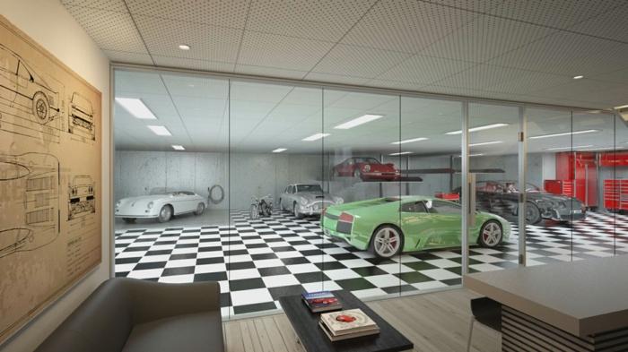 mit diesen garagenboden fliesen aus porzellan l uft immer alles glatt. Black Bedroom Furniture Sets. Home Design Ideas
