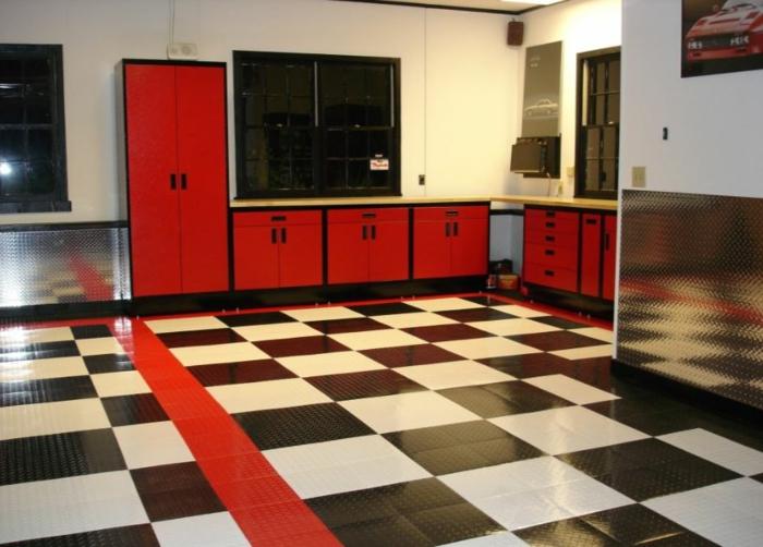 anleitung zur auswahl und verlegen von garagenfliesen. Black Bedroom Furniture Sets. Home Design Ideas