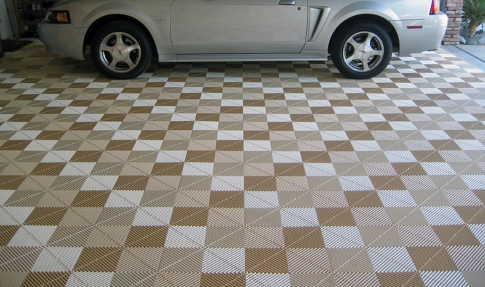 garagenfliesen garagenboden fliesen schachbrett verlegen farbmuster