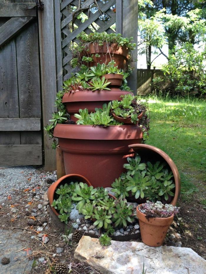 einrichtungsideen terrakotta dekoideen garten gartenpflanzen