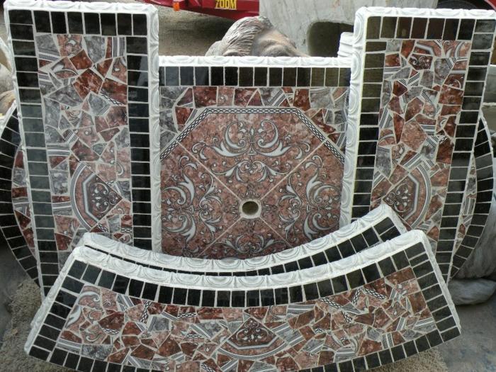 gartenweg gestalten gartenwege anlegen steinoptik kunstwerk