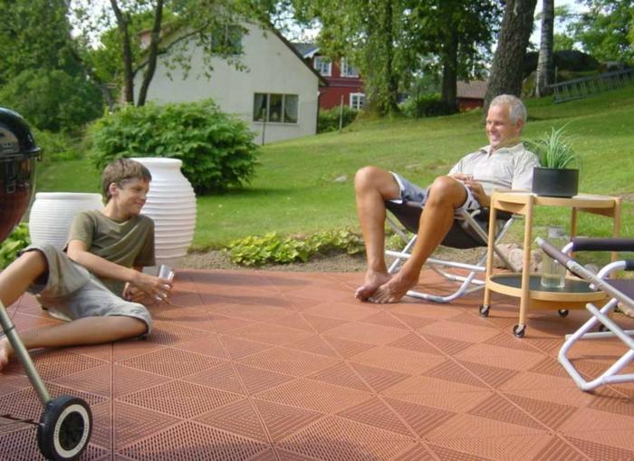 gartenweg gestalten gartenwege anlegen steinoptik vorgarten weg garagenboden fliesen ideen rutschfest