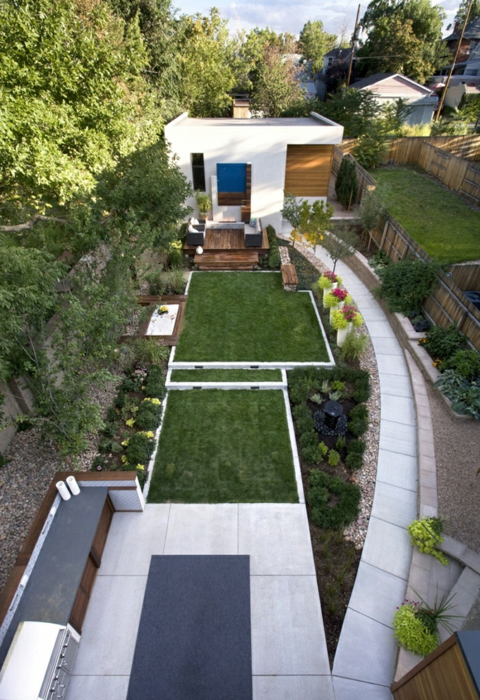 Creating 111 garden paths Examples - 7 great materials for the floor in the garden!