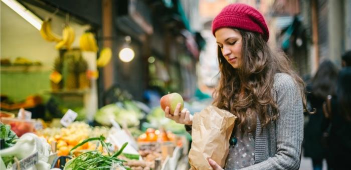 gesundes essen ausgewogenes menue auf die einkaufsliste setzen