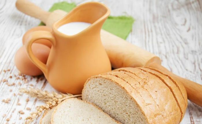 gesundes essen ausgewogenes menue milch