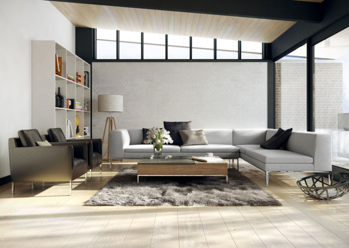 wohnzimmer sofa grau. Black Bedroom Furniture Sets. Home Design Ideas