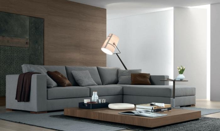 1001 sofa grau beispiele warum sie ein sofa genau for Wohnideen wohnzimmer modern