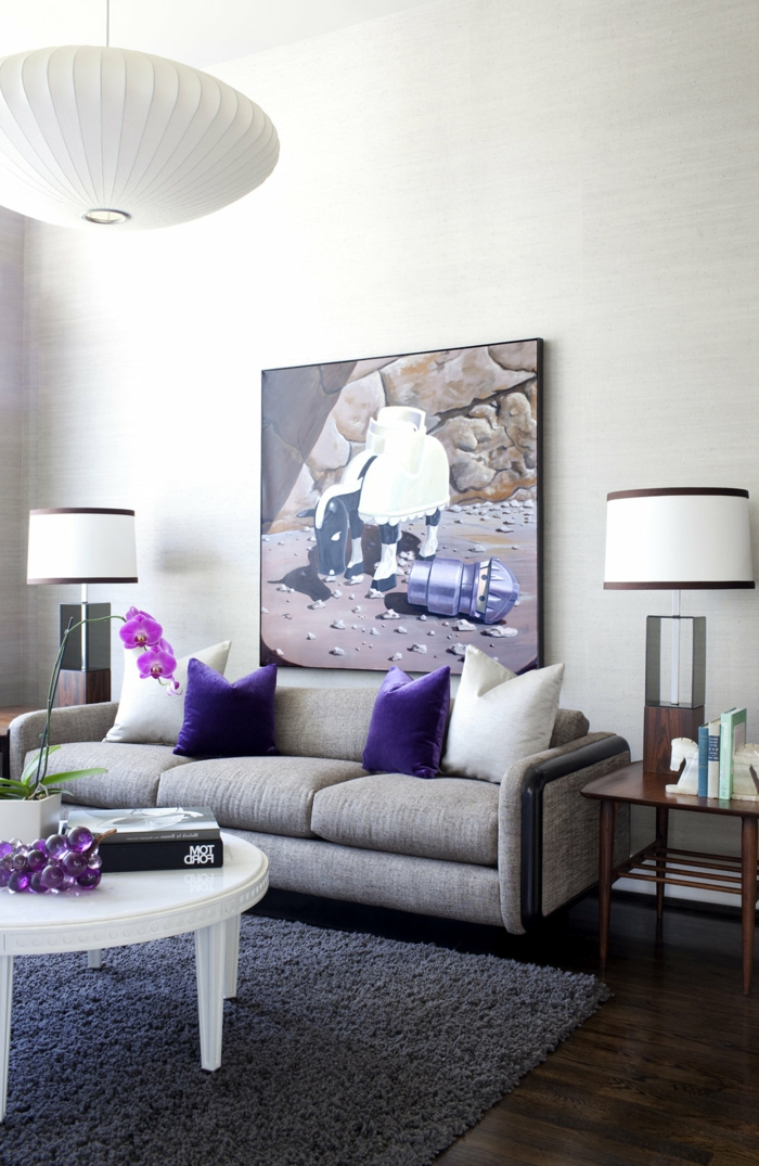 Purple Wall Paint Living Room