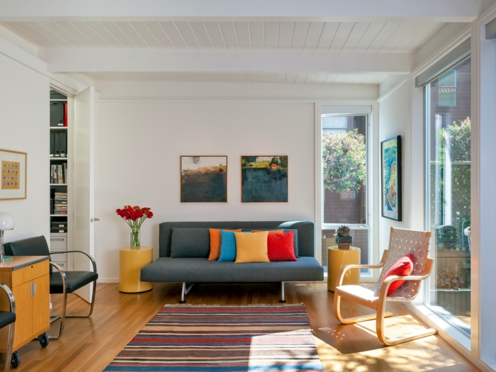 farbe wohnzimmer graues sofa – Dumss.com