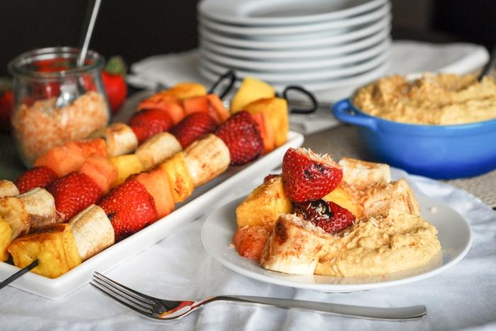 grillen vegetarisch obst ideen vegan erdbeeren bananen ananas