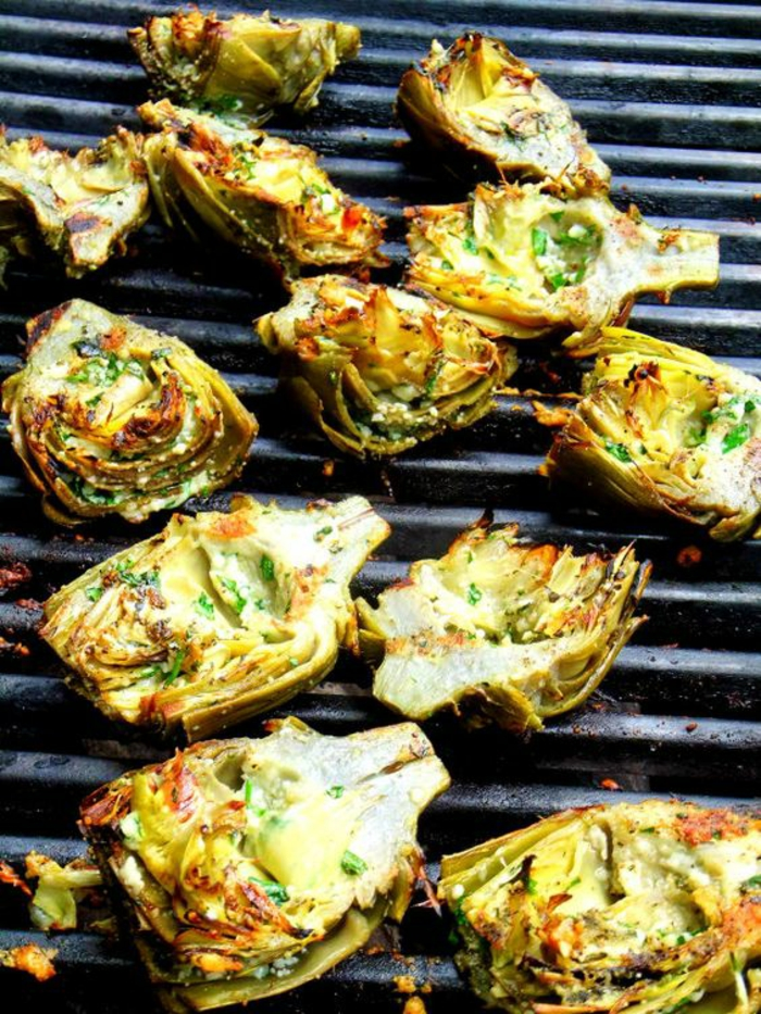 grillen vegetarisch vegan bbq artischocken