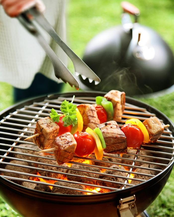 grillparty angrillen bbq grill fleischspieße gemüse