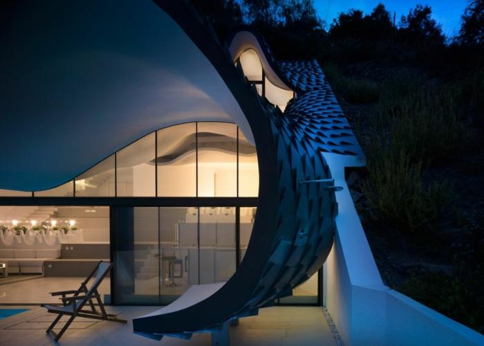 haus am meer kaufen drache design architektur zinn dachziegel terrasse