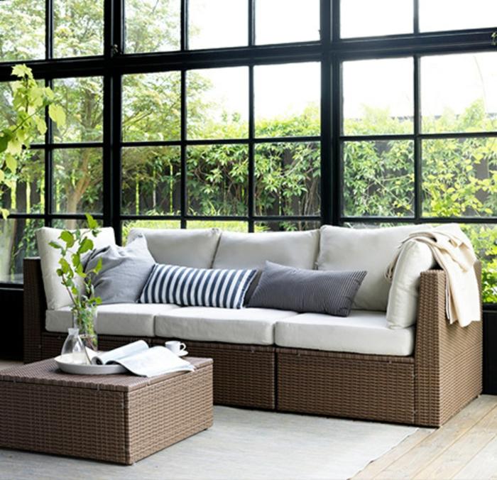 ikea gartenmöbel outdoor rattanmöbel sofa couchtisch arholma