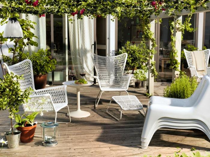 gartenmöbel set holz weiß - home design ideas. beeindruckend ...
