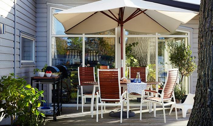 ikea gartenmöbel outdoor set esstisch hochlehner vindalsö