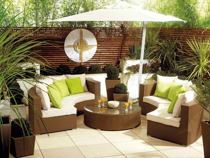 ikea gartenmöbel outdoor set lounge rattan auflage runder couchtisch sonnenschirm