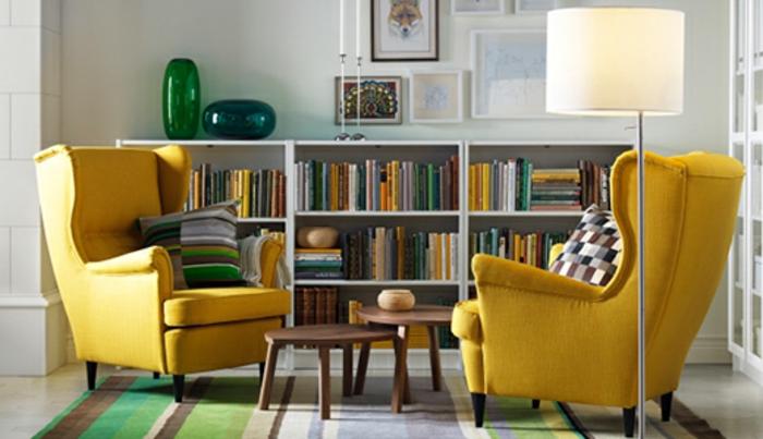 Pax Kleiderschrank Ikea Family ~ STRANDMON Ohrensessel, Skiftebo gelb – 199 00