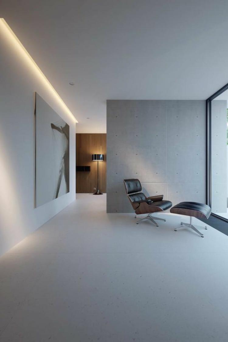 Indirekte Beleuchtung Decke Moderne Wohnzimmer Einrichtung