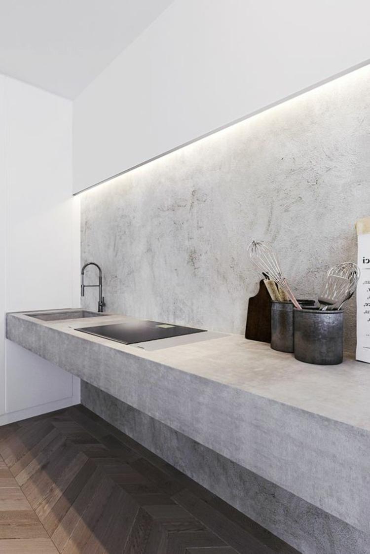 Indirekte Beleuchtung Wand Badezimmer Ideen Botonwände