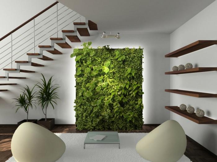 Innenpflanzen Wohnzimmer Dekorieren Wanddeko Topfpflanzen
