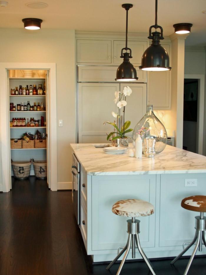 küchenbeleuchtung küchenideen kücheninsel beleuchten hängelampen