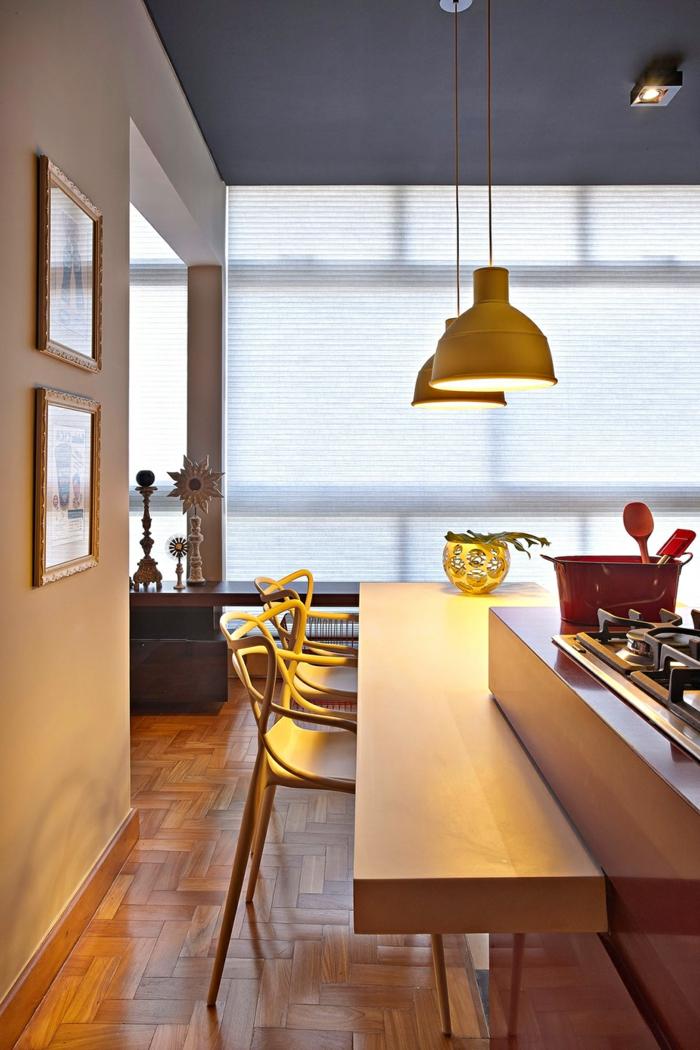 küchenbeleuchtung kücheninsel hängelampen wohnideen