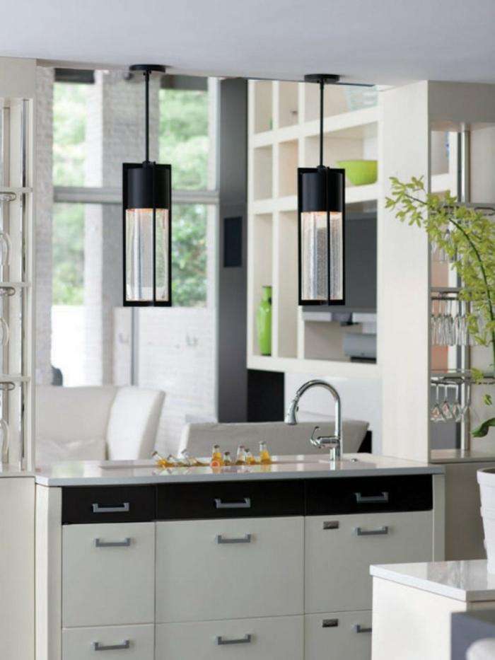 küchenbeleuchtung moderne kücheninsel beleuchtung hängalampen