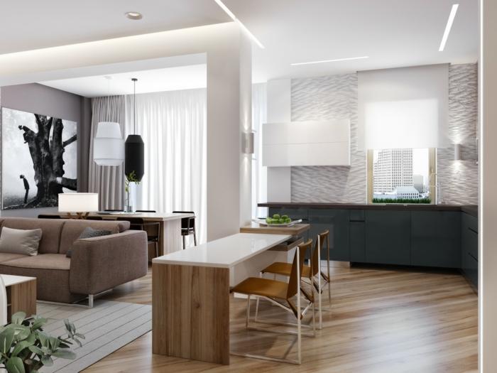 küchenbeleuchtung offener wohnplan essbereich beleuchten