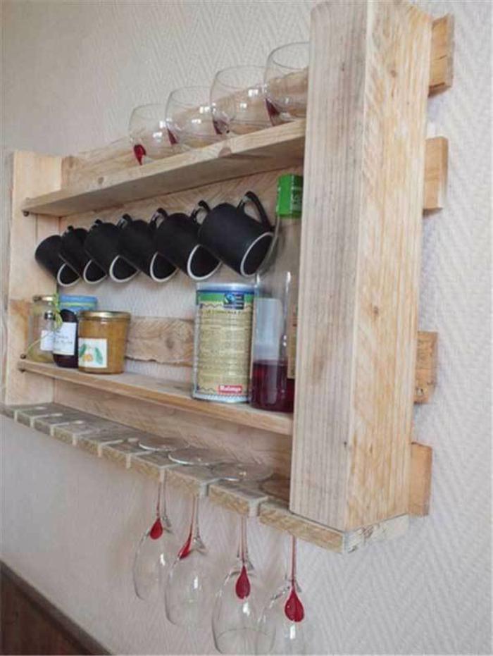 kücheneinrichtungen henkel glas holz palette