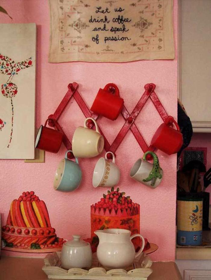 kücheneinrichtungen henkel holzbrett kaffebar retro