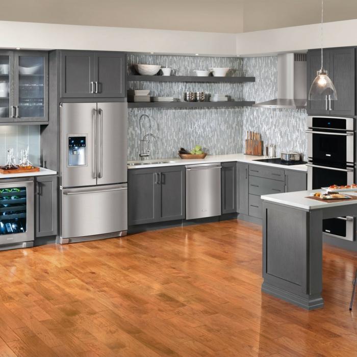 Kücheneinrichtung  40 Kühlschränke - Vielfalt an Designs für eine spektakuläre ...